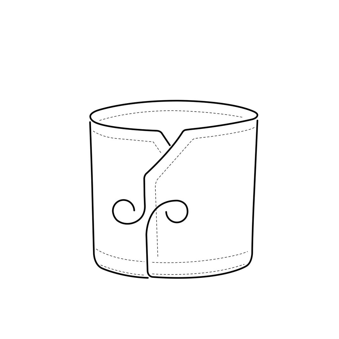 camicia-su-misura-torino-Polsino-smussato_Sketch